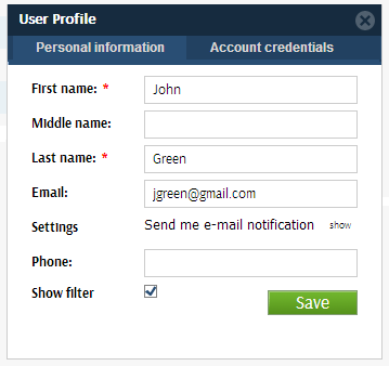 user profile xbtrack