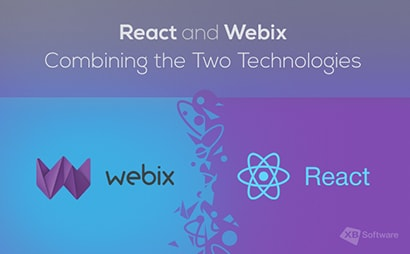 react webix development