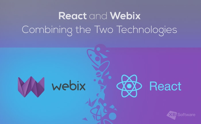 React and javascript frameworks by Webix