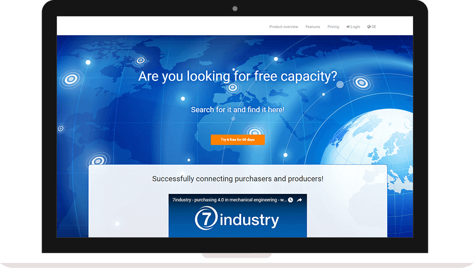 Web portal for manufacturers and buyers