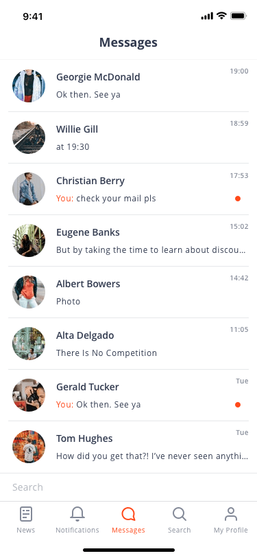 Real Time Messaging App