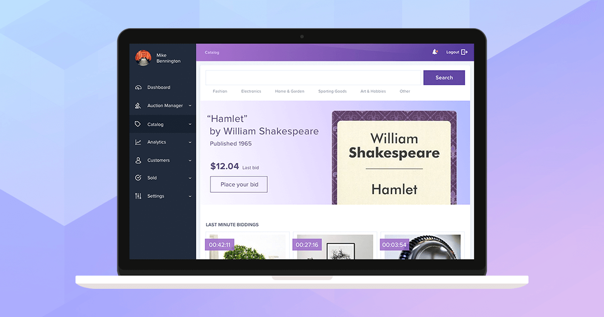 Ux Ui Improvement For Online Auction And Shopping Ecommerce Platform