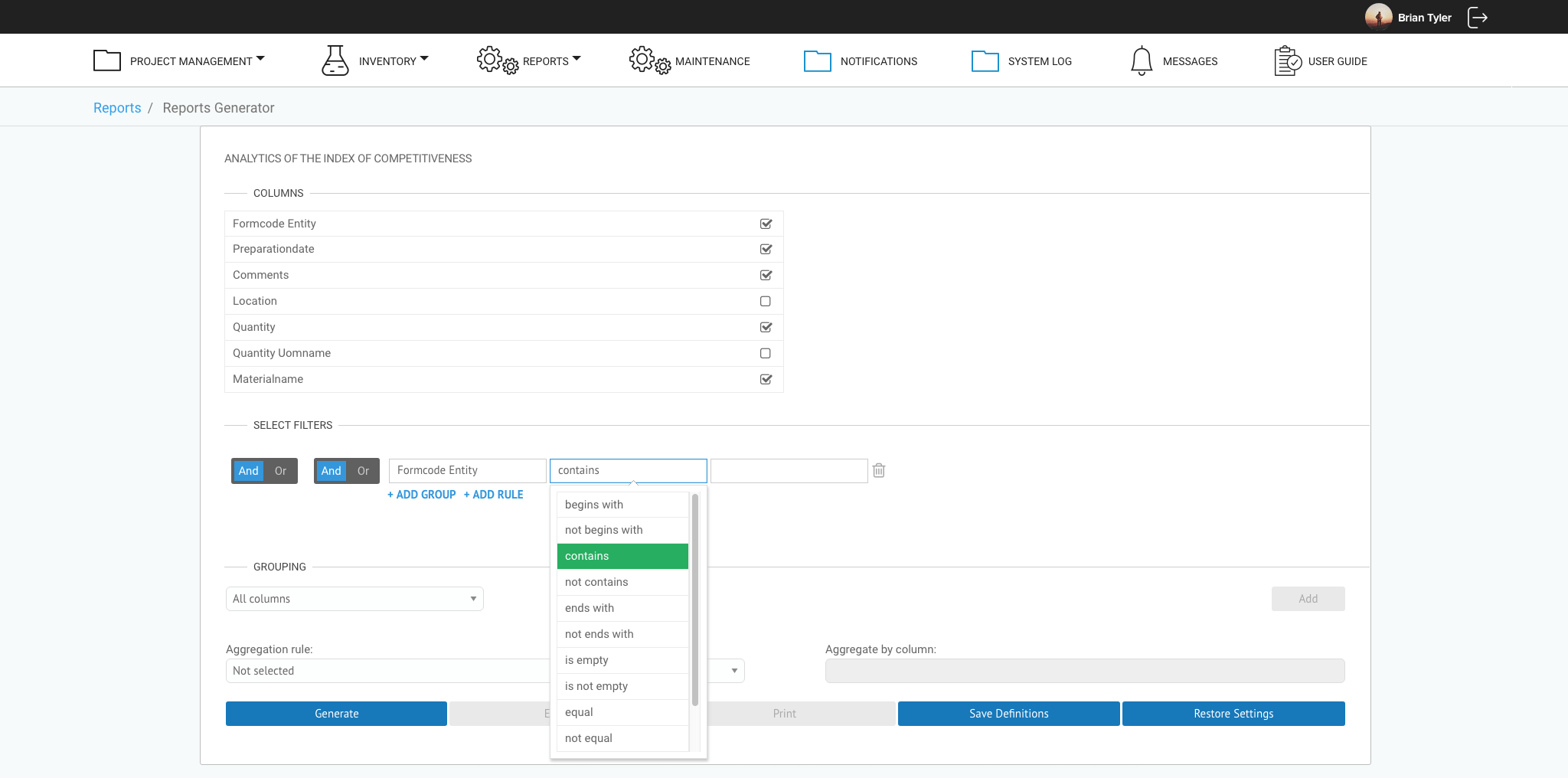 Reporting Module